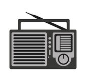 Radio retro audio device Stock Photography