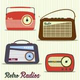 Radio retro style Royalty Free Stock Image