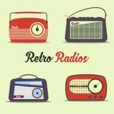 Radio retro style Stock Photos