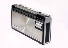 radio retro transistor Στοκ Εικόνες