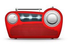 Radio roja ilustración del vector