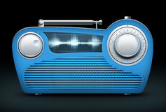 Radio roja Foto de archivo libre de regalías