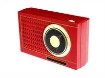 Radio rossa del transistore Fotografie Stock
