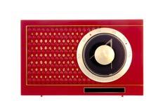 Radio rossa del transistore Immagini Stock