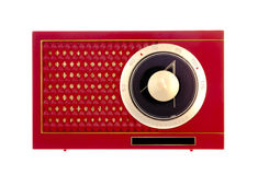 Radio rouge de transistor Images stock