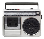 Radio 80s Stockbild