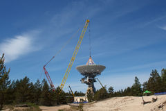 Radio satellite construction Royalty Free Stock Photos
