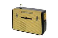 Radio set 1. Old fashioned radio set over white 1 Royalty Free Stock Images