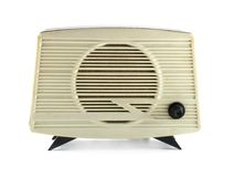 Radio set. Old radio set over white background Royalty Free Stock Photo