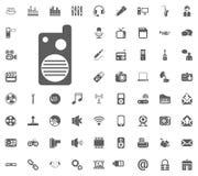 Radio set, portable radio icon. Media, Music and Communication vector illustration icon set. Set of universal icons. Set of 64 ico. Ns royalty free illustration