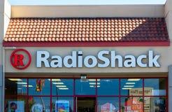 Radio Shack detaljistyttersida arkivbild