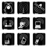 Radio signal simple vector icons Royalty Free Stock Photos