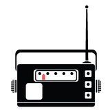 Radio silhouette Stock Photography