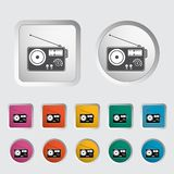 Radio single icon. Stock Images