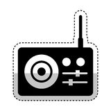 Radio sound device icon Stock Image