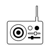 Radio sound device icon Royalty Free Stock Image
