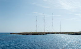 Radio stacja, przylądek Greco, Cypr Obrazy Royalty Free