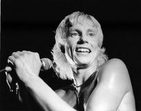 Radio Stars. Andy Ellison, lead singer of British pop group Radio Stars performs live on stage in London on July 21, 1978. He was earlier in the group Johns Royalty Free Stock Photography