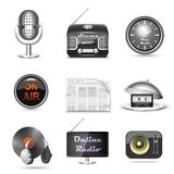 Radio station vector icon set Stock Photo