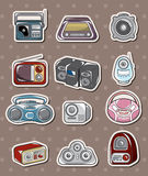 Radio stickers Royalty Free Stock Images