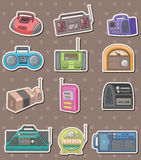Radio stickers Stock Photo