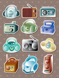 Radio stickers Stock Image