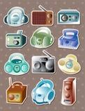 Radio stickers Stock Image