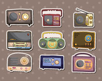 Radio stickers Stock Photo