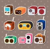 Radio stickers Royalty Free Stock Photography