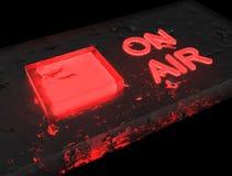 Radio sur le rouge d'air - base en verre Photos libres de droits