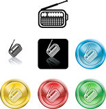 Radio symbol icon Royalty Free Stock Photography