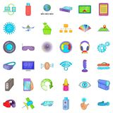 Radio technology icons set, cartoon style. Radio technology icons set. Cartoon style of 36 radio technology vector icons for web isolated on white background Royalty Free Stock Images