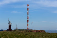 Radio technology tower on the island Royalty Free Stock Image