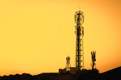 Radio Telecommunication Infrastructure Towers Royalty Free Stock Photography