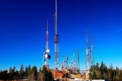 Radio telecommunication towers Royalty Free Stock Images
