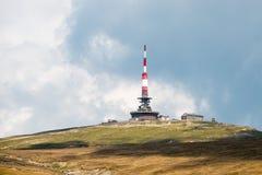 Radio telecommunications relay. On the Costila Peak in Bucegi Mountains, Romania Royalty Free Stock Photography