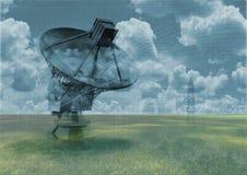Radio telescoop stock illustratie