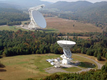 Radio Telescope. Robert C. Byrd Green Bank Radio Telescope Royalty Free Stock Photo