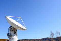Radio telescope. At Radio Astronomy Observatory of JAPAN Royalty Free Stock Images