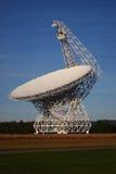 Radio Telescope. A huge radio telescope for science Stock Photos