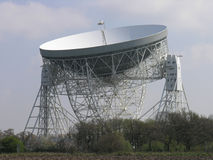 Radio telescope. Lovell radio telescope at Jodrell Bank Observatory Royalty Free Stock Photos