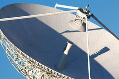 Radio telescope against a blue sky Royalty Free Stock Images