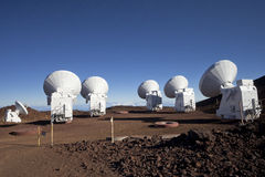 Radio telescope antennas Stock Image