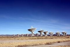 Radio Telescope Array - Plains of San Agustin, NM, USA Royalty Free Stock Photography