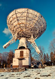 Radio telescope in astronomical observatory Stock Image