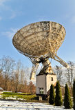 Radio telescope in astronomical observatory Stock Photos