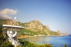 Radio telescope of the Crimean Astrophysical. Observatory royalty free stock images