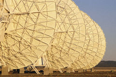 Radio telescope dishes Stock Photo