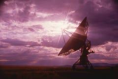 Radio telescope dishes Stock Images