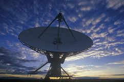 Radio telescope dishes at National Radio Astronomy Observatory in Socorro, NM Stock Photos